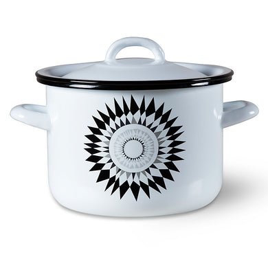 ISAK | Midnattssol Elnamel Cooking Pot with Lid