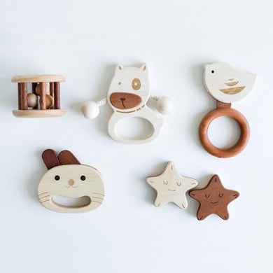 LOVELY MO | Baby Rattle Gift Set [2] (DOG)