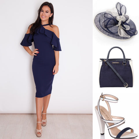 What to wear to a day at the races - outfit inso - navy chic