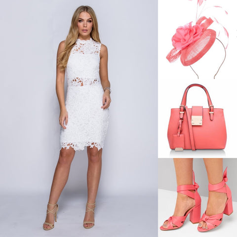 What to wear to a day at the races - outfit inspo - coral pop