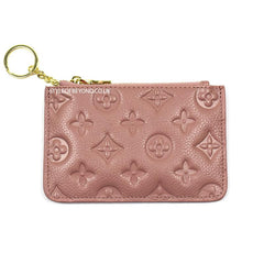 INES REAL LEATHER DESIGNER INSPIRED KEY POUCH - DUSTY PINK