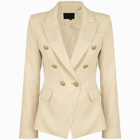 Victoria Balmain Inspired Blazer - Nude - Style Of Beyond