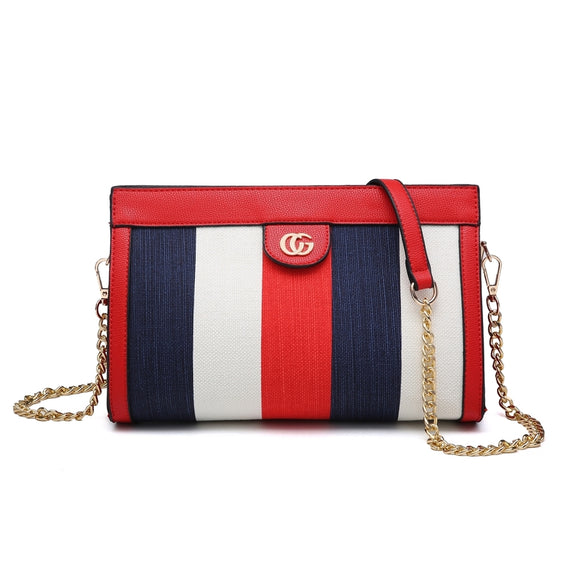 Imani Nautical Striped Gucci Inspired Bag - Red