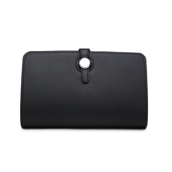 Roxy Designer Inspired Duo Wallet And Purse - Black