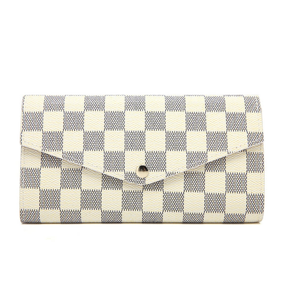 Lulu Louis Vuitton Inspired Purse / Wallet - White Check
