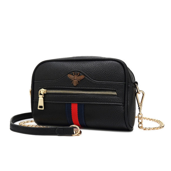 Willa Gucci Inspired Crossbody / Belt Bag - Black