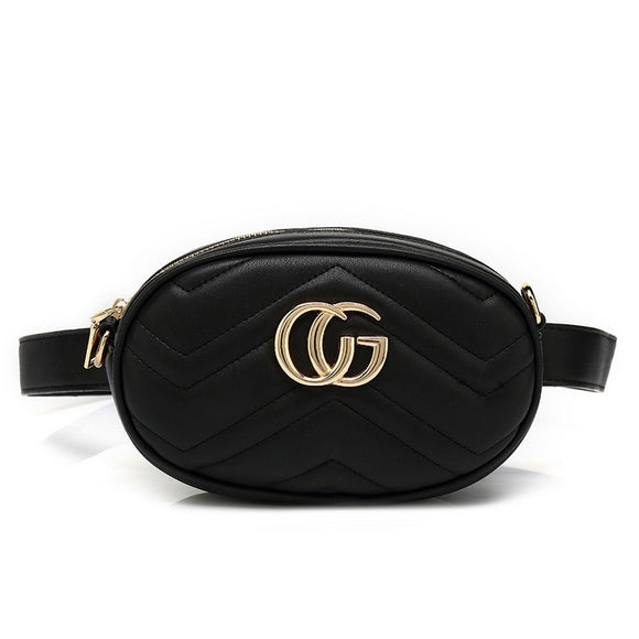 Ramona Gucci Inspired Belt Bag - Black