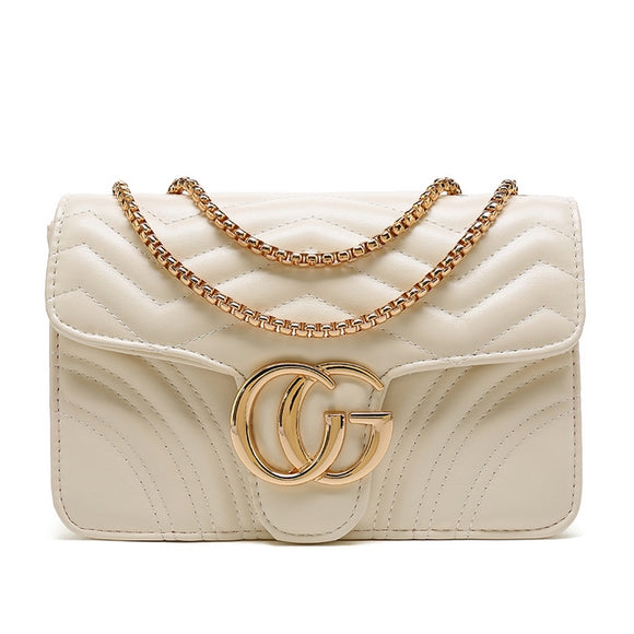 Talia Crossbody Gucci Inspired Marmont Bag - Cream