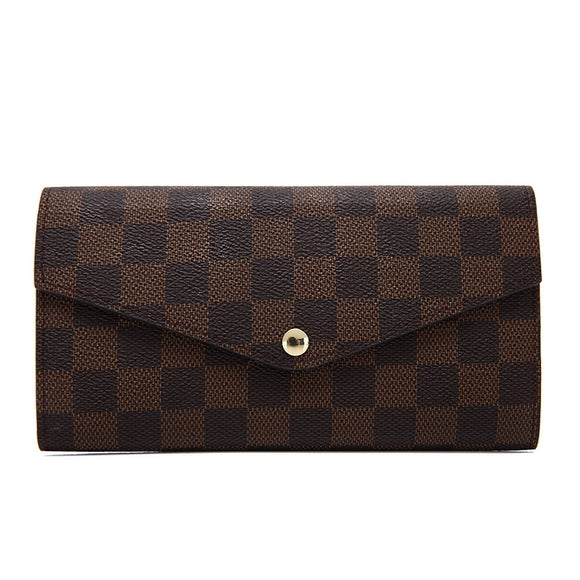 Lulu Louis Vuitton Inspired Purse / Wallet - Brown Check