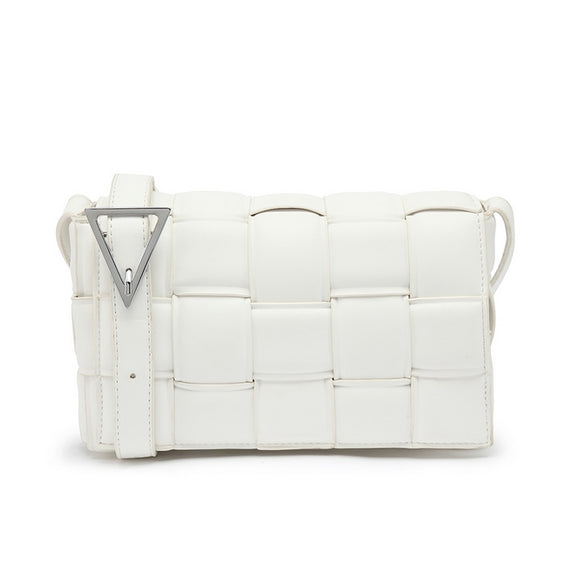 Cassie Designer Inspired Padded Cassette Bag - White