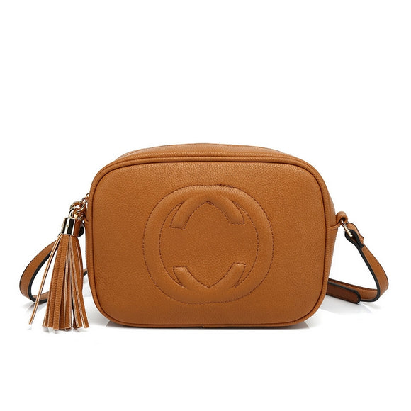 Soho Gucci Inspired Disco Bag - Tan