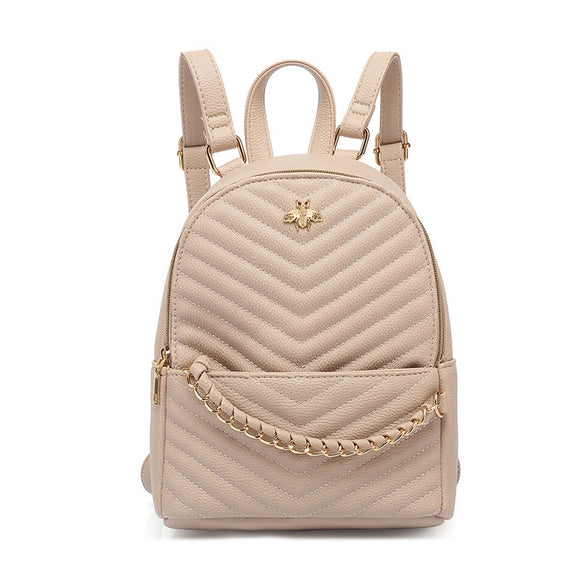 Haisley Bee Gucci Inspired Mini Backpack - Nude