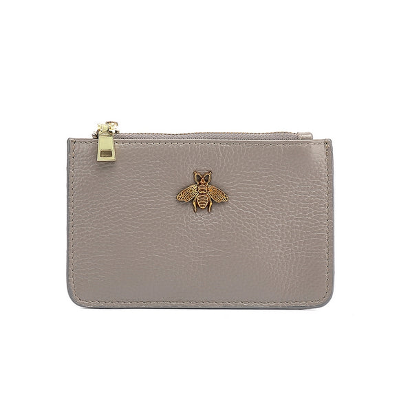 Carrie Bee Real Leather Gucci Inspired Key Pouch - Grey