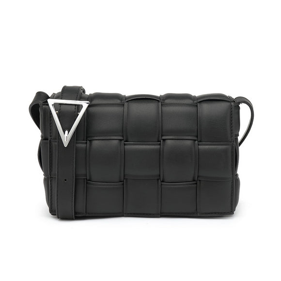Cassie Designer Inspired Padded Cassette Bag - Black