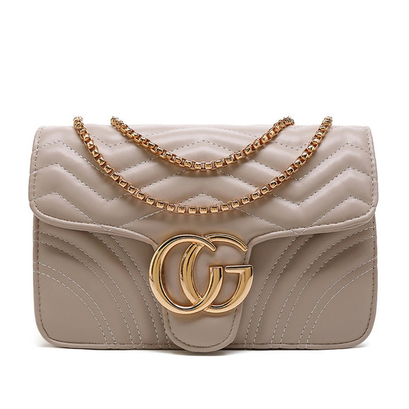 6eb31b49605 Talia Crossbody Gucci Inspired Marmont Bag - Nude