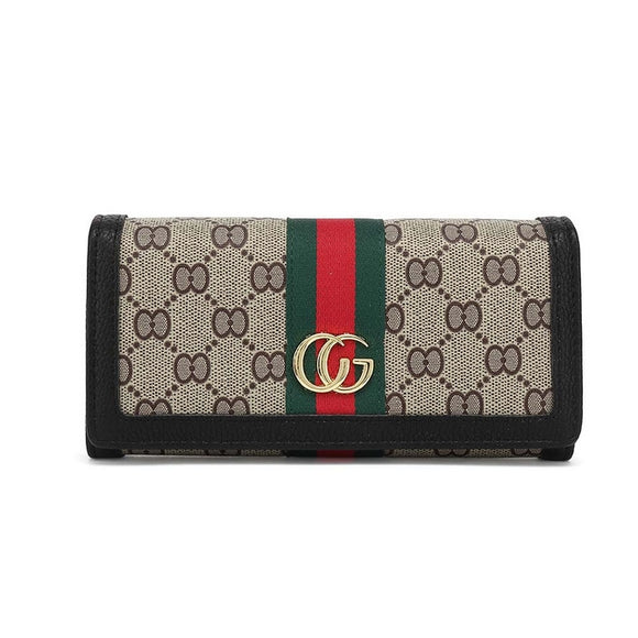 Ella Stripe Gucci Inspired Purse - Black