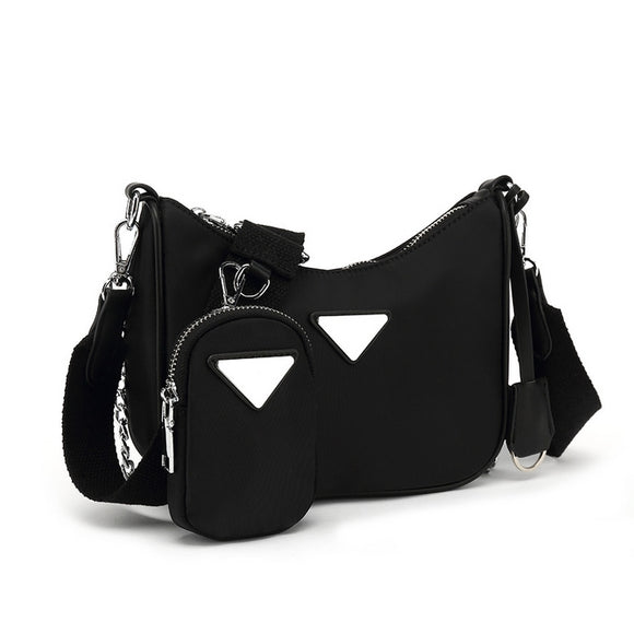 Sydney Designer Inspired Nylon Bag - Black
