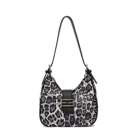 Mona Nylon Designer Inspired Bag - Snow Leopard