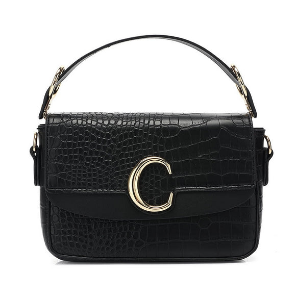 Shelby Chloe Inspired C Bag - Black