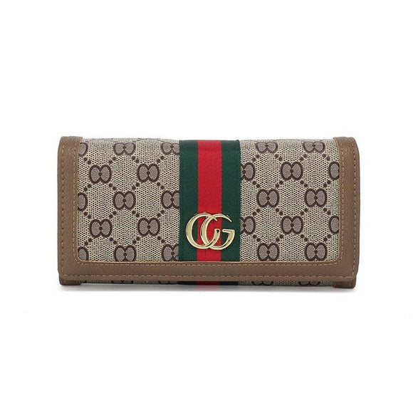 Ella Stripe Gucci Inspired Purse - Taupe