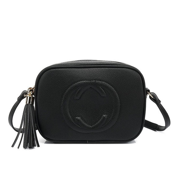 Soho Gucci Inspired Disco Bag - Black