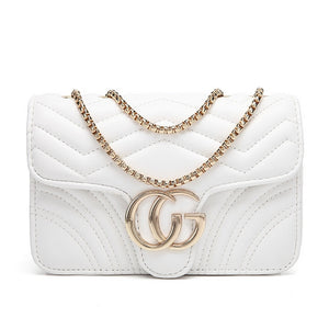 5e5eb9434 Talia Crossbody Gucci Inspired Marmont Bag - White – Style Of Beyond