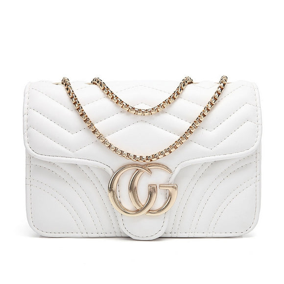 Talia Crossbody Gucci Inspired Marmont Bag - White