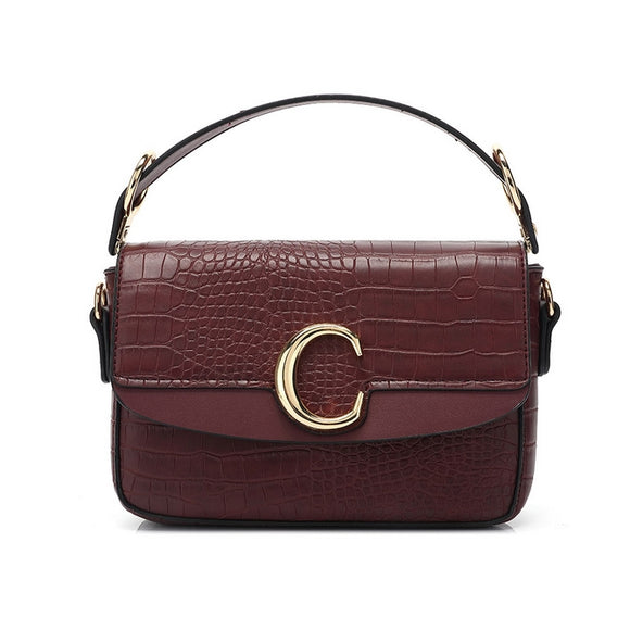 Shelby Chloe Inspired C Bag - Wine