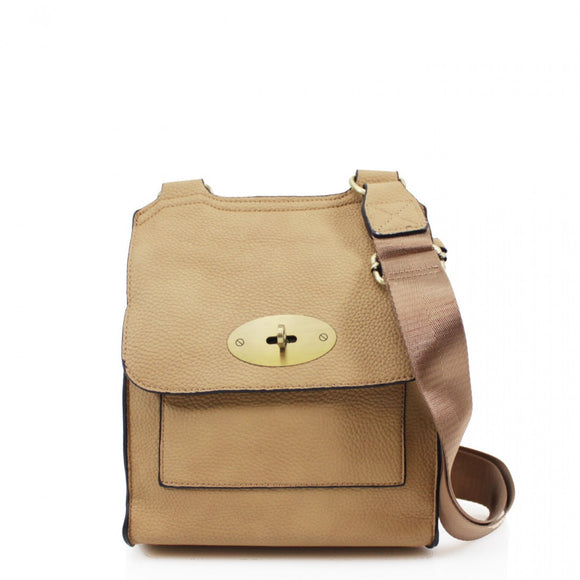 Toni Mulberry Inspired Satchel Bag - Sand