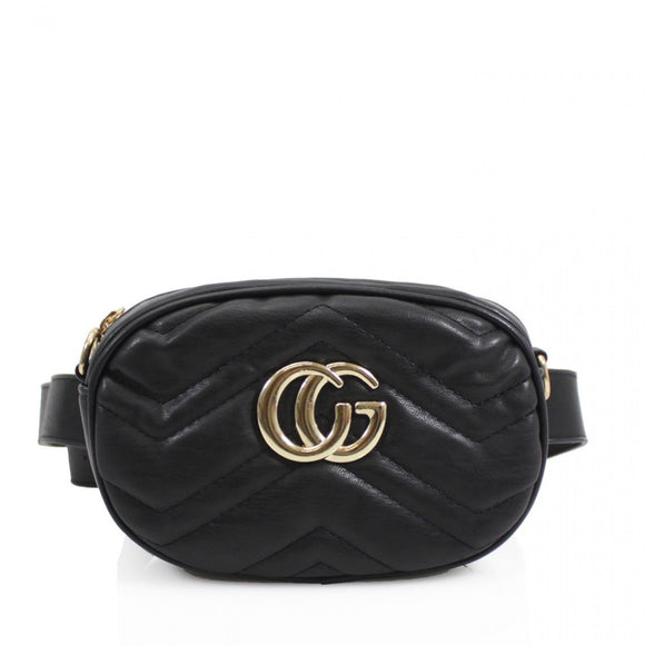 Jaida Small Gucci Inspired Belt Bag / Crossbody - Black