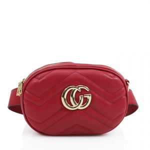 Jaida Small Gucci Inspired Belt Bag / Crossbody - Red