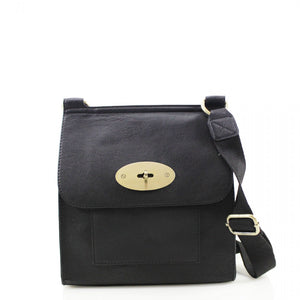 Toni Mulberry Inspired Satchel Bag - Black