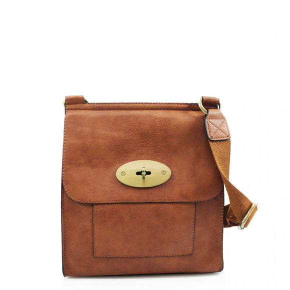 Toni Mulberry Inspired Satchel Bag - Tan