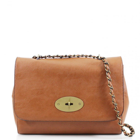 Athena Mulberry Inspired Crossbody Bag - Tan