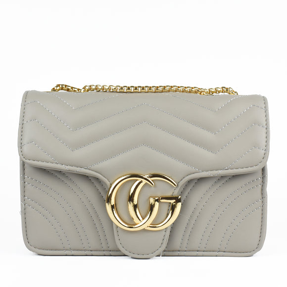 Talia Crossbody Gucci Inspired Marmont Bag - Grey