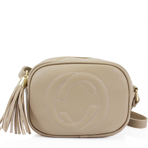 Soho Gucci Inspired Disco Bag - Nude