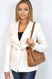 Athena Mulberry Inspired Crossbody Bag - Tan - shoulder