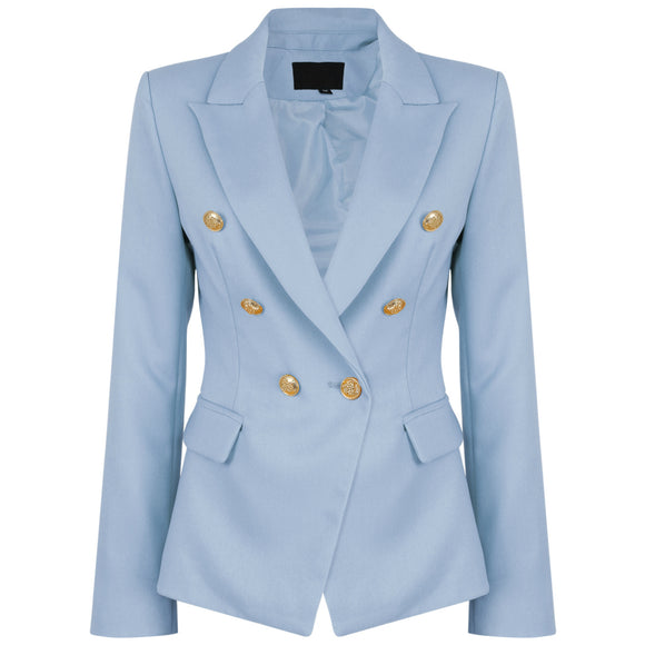 Victoria Balmain Inspired Tailored Blazer - Blue