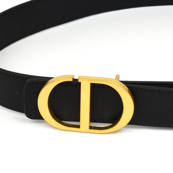 Blair Real Leather Designer Inspired Belt - Black