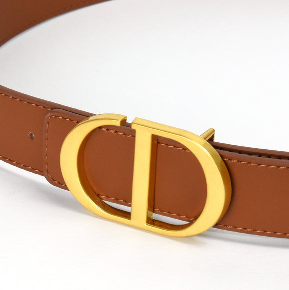 Blair Real Leather Designer Inspired Belt - Tan