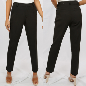 Shannon Designer Inspired Tailored Trousers - Black