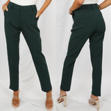 Shannon Designer Inspired Tailored Trousers - Teal Green