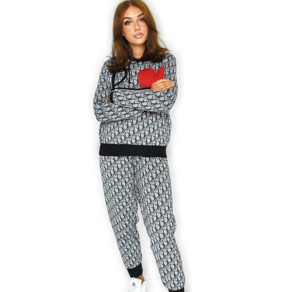 Daisey Designer Inspired Loungewear Set - Grey
