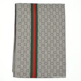 Sally Striped Gucci Inspired Scarf - Grey