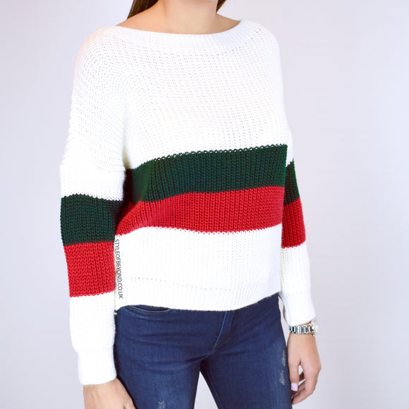 Erin Striped Knitted Gucci Inspired Jumper