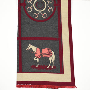 Calia Hermes Inspired Scarf - Wine Red