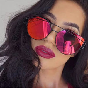Sunny Dayz Mirrored Sunglasses - Red/Black