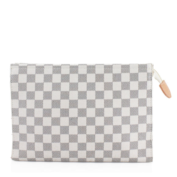 Rosie Designer Inspired Clutch Bag - White Check