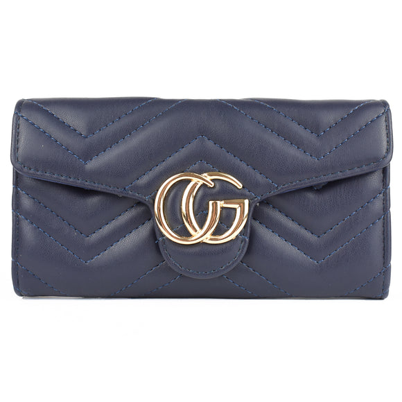 Venus Marmont Designer Inspired Purse - Navy
