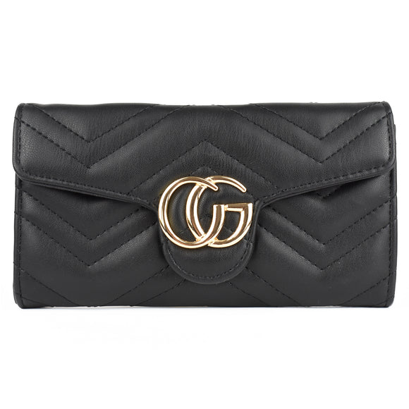 Venus Marmont Designer Inspired Purse - Black